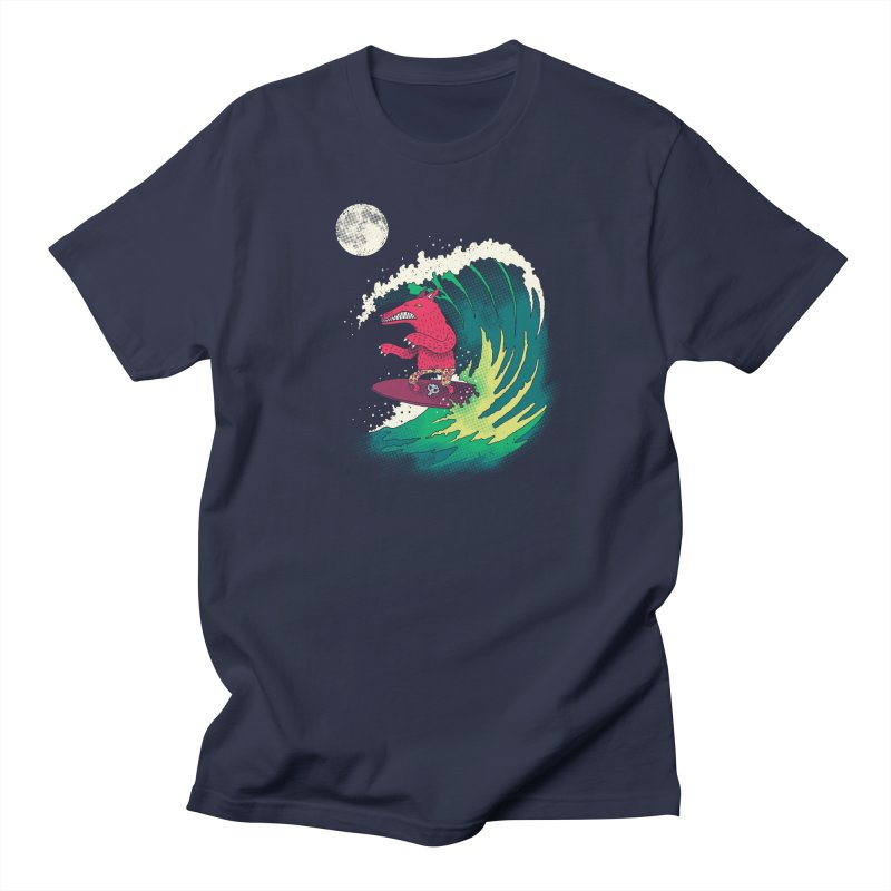 Moonlight Surfer Men's Regular T-Shirt by DinoMike's Artist Shop