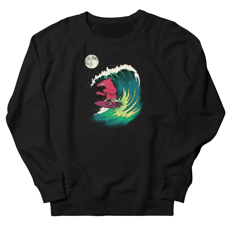 Moonlight Surfer Women's Sweatshirt by DinoMike's Artist Shop