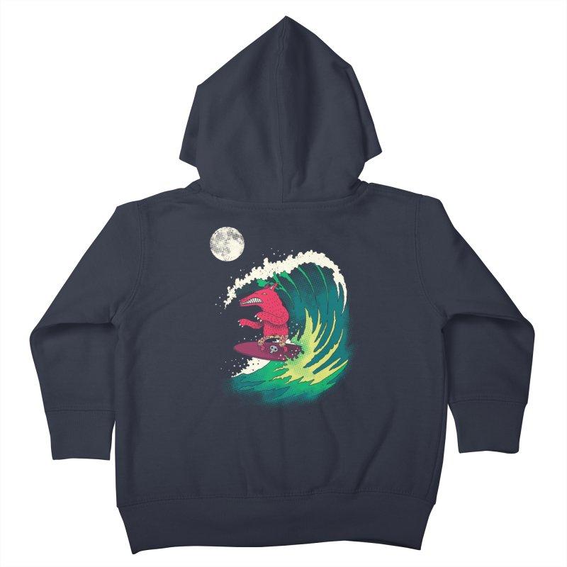Moonlight Surfer Kids Toddler Zip-Up Hoody by DinoMike's Artist Shop