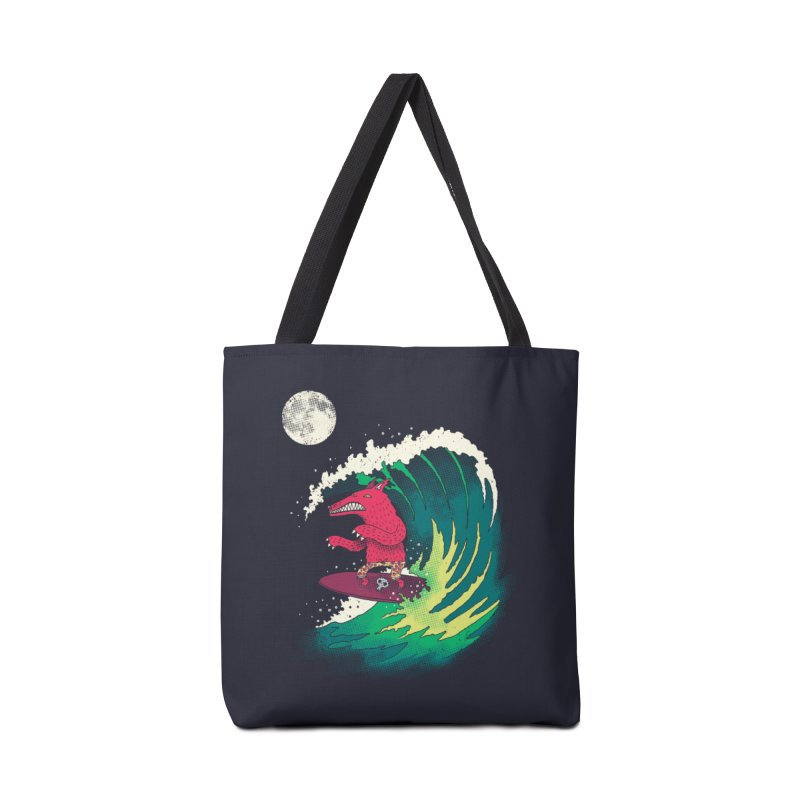Moonlight Surfer Accessories Bag by DinoMike's Artist Shop