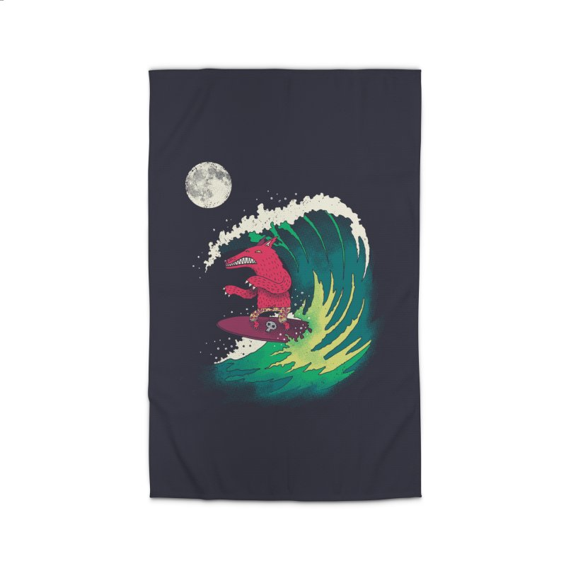 Moonlight Surfer Home Rug by DinoMike's Artist Shop