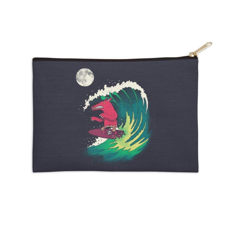 Moonlight Surfer Accessories Zip Pouch by DinoMike's Artist Shop