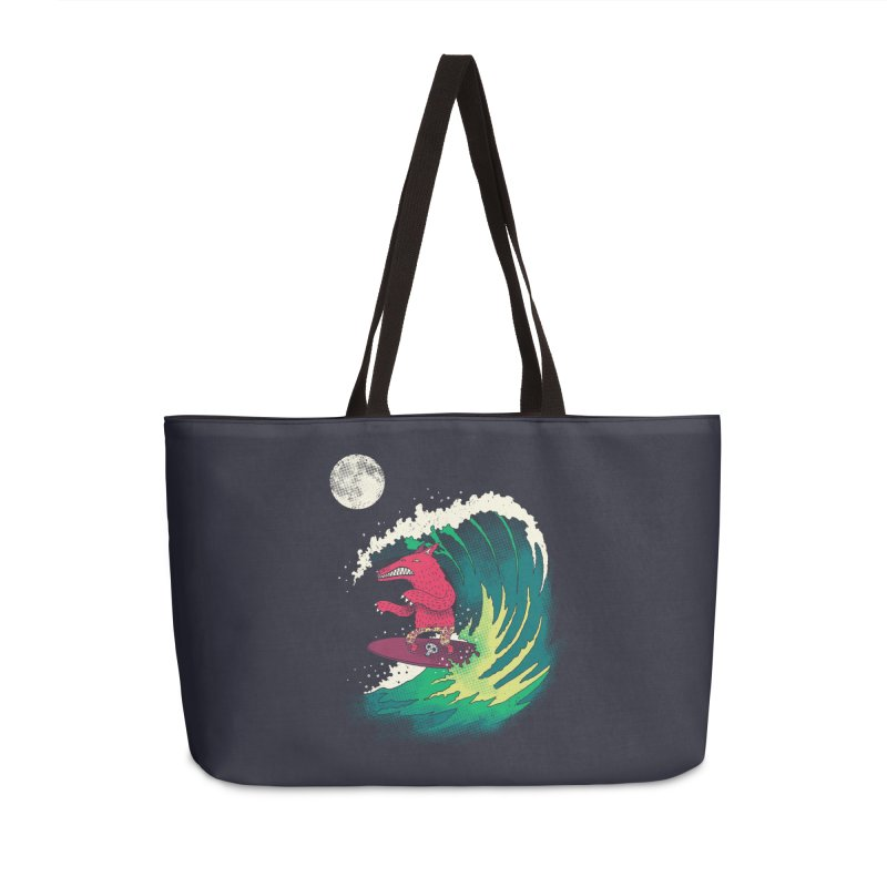 Moonlight Surfer Accessories Weekender Bag Bag by DinoMike's Artist Shop