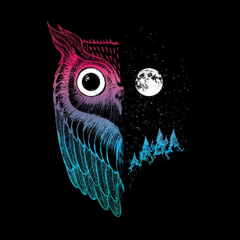 Night Owl Men's Longsleeve T-Shirt by DinoMike's Artist Shop