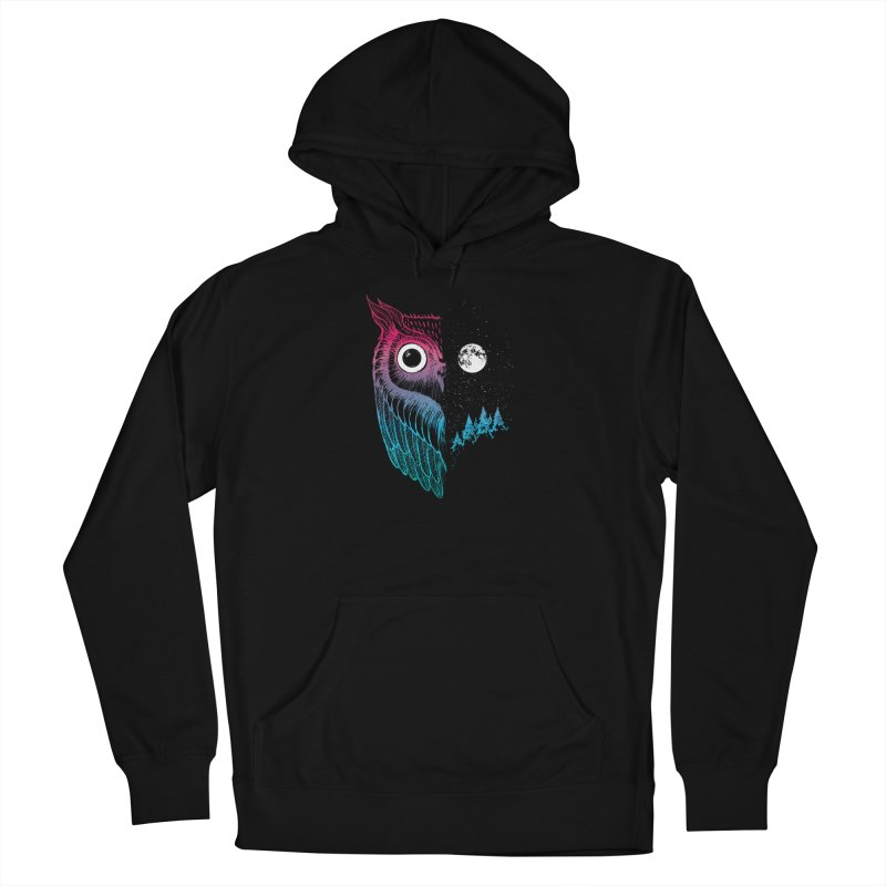 Night Owl Women's French Terry Pullover Hoody by DinoMike's Artist Shop