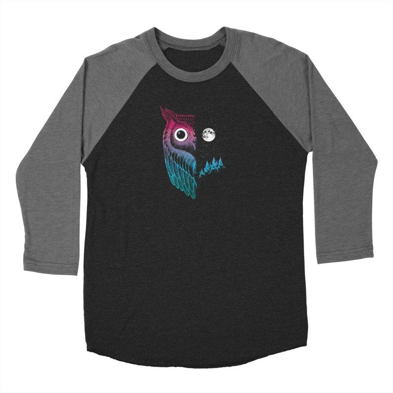 Night Owl Men's Baseball Triblend Longsleeve T-Shirt by DinoMike's Artist Shop