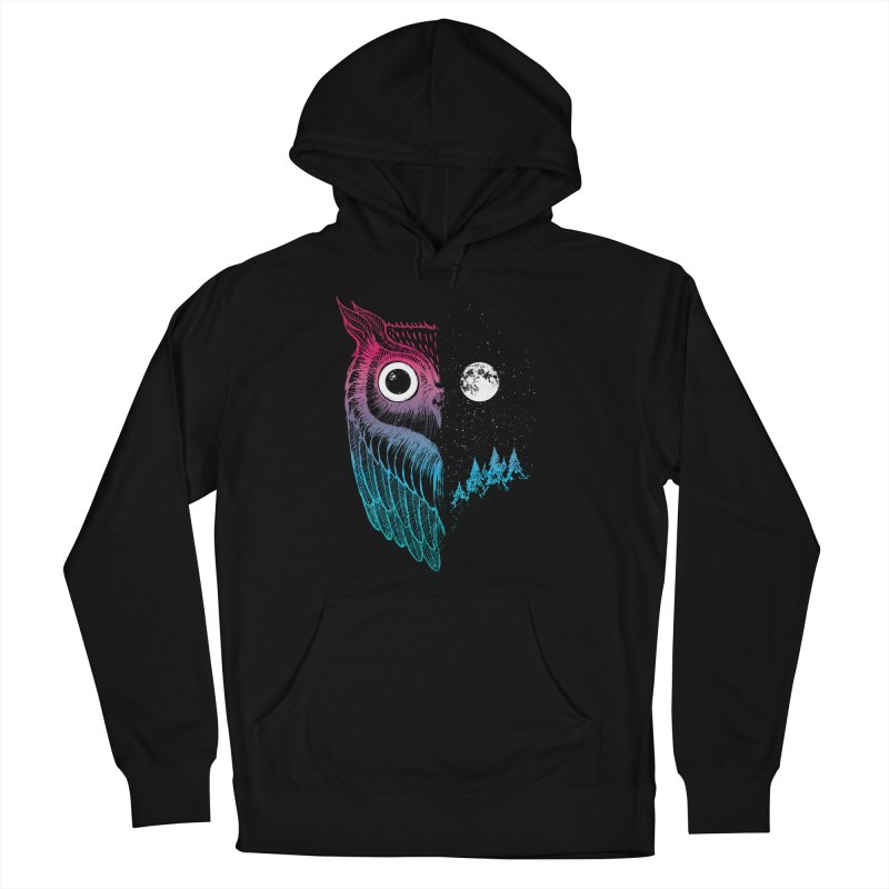Night Owl Men's French Terry Pullover Hoody by DinoMike's Artist Shop