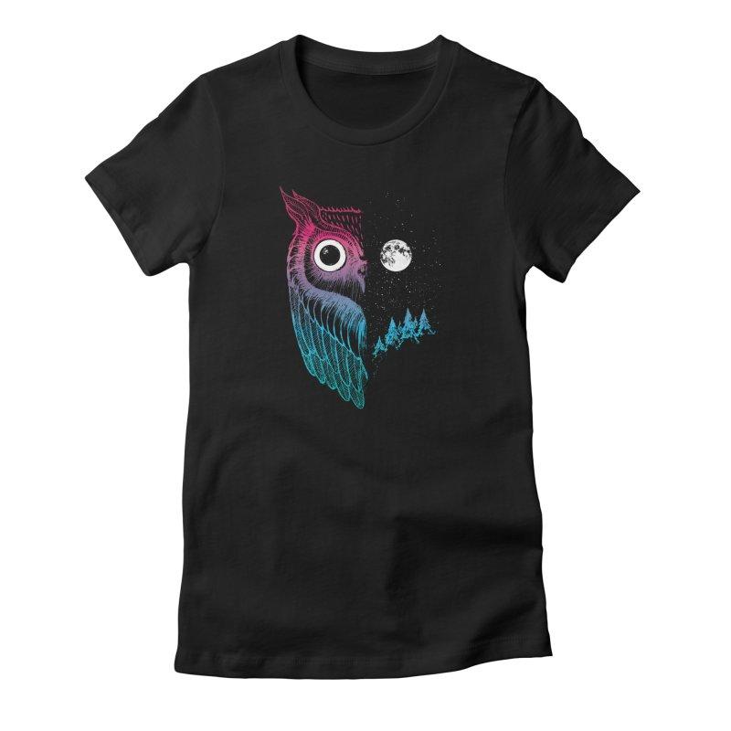 Night Owl Women's T-Shirt by DinoMike's Artist Shop