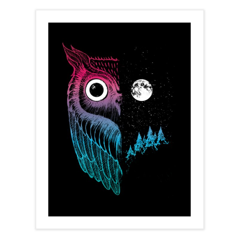 Night Owl Home Fine Art Print by DinoMike's Artist Shop