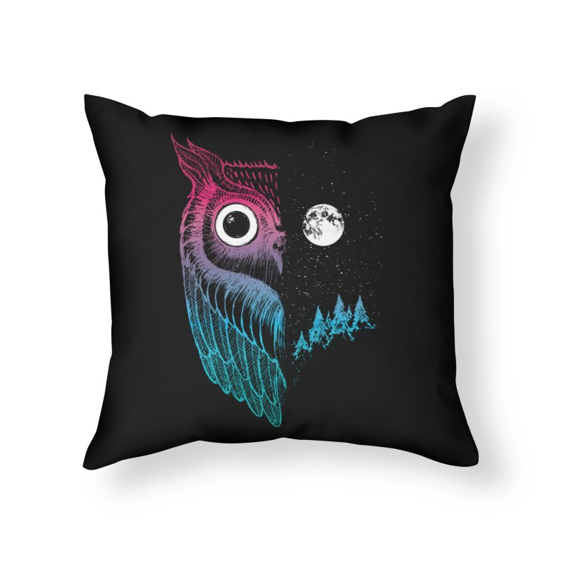 Night Owl Home Throw Pillow by DinoMike's Artist Shop