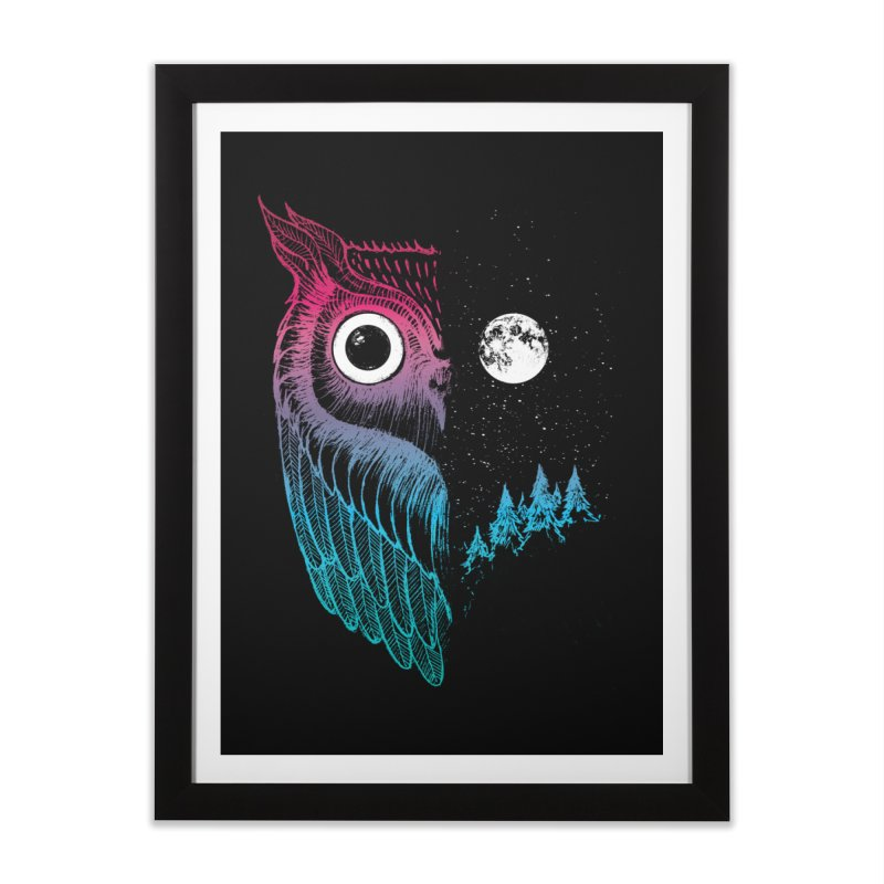 Night Owl Home Framed Fine Art Print by DinoMike's Artist Shop