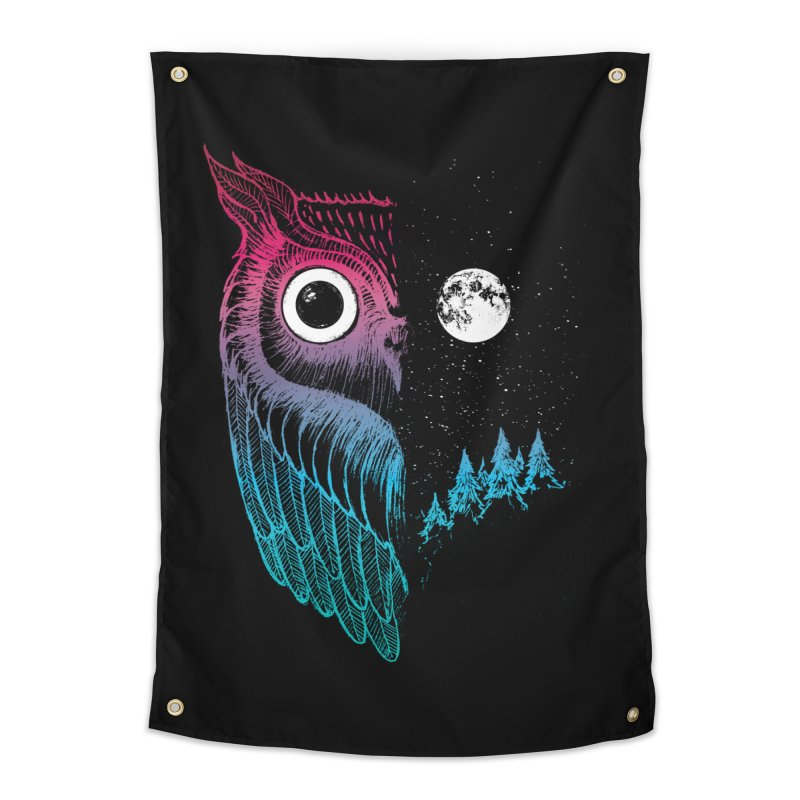 Night Owl Home Tapestry by DinoMike's Artist Shop
