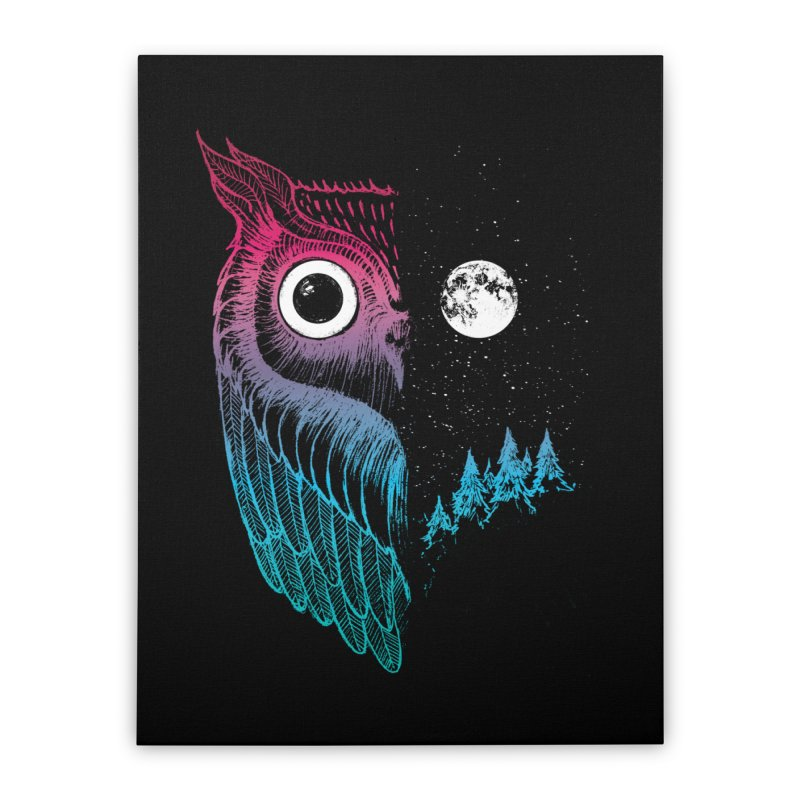 Night Owl Home Stretched Canvas by DinoMike's Artist Shop