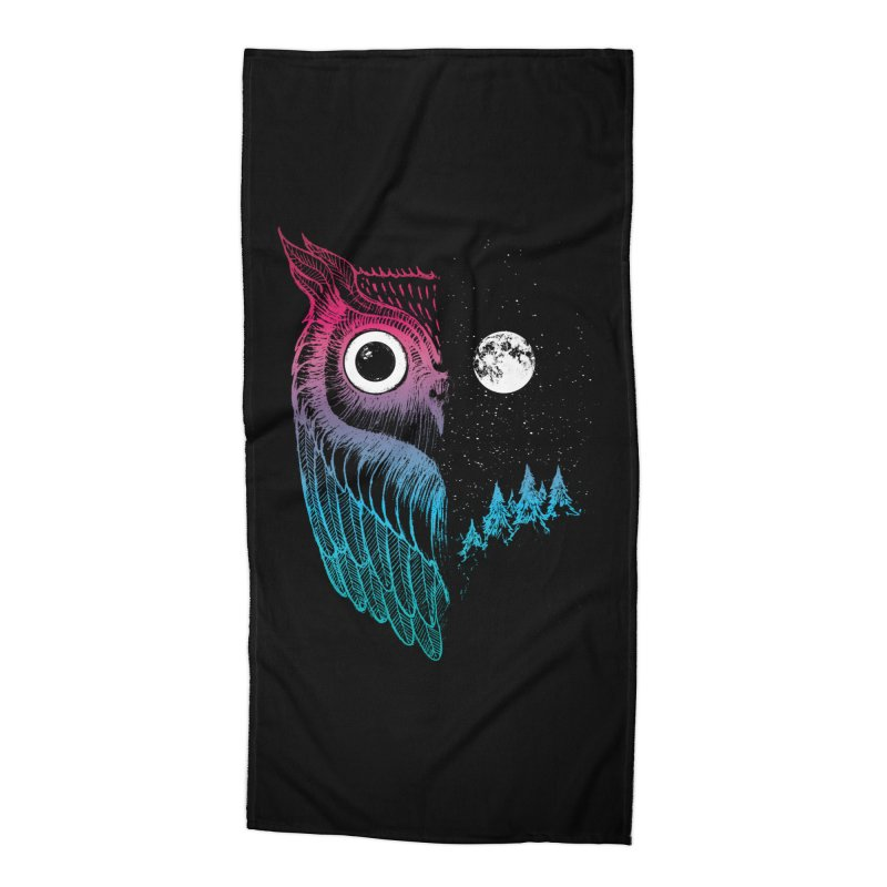 Night Owl Accessories Beach Towel by DinoMike's Artist Shop