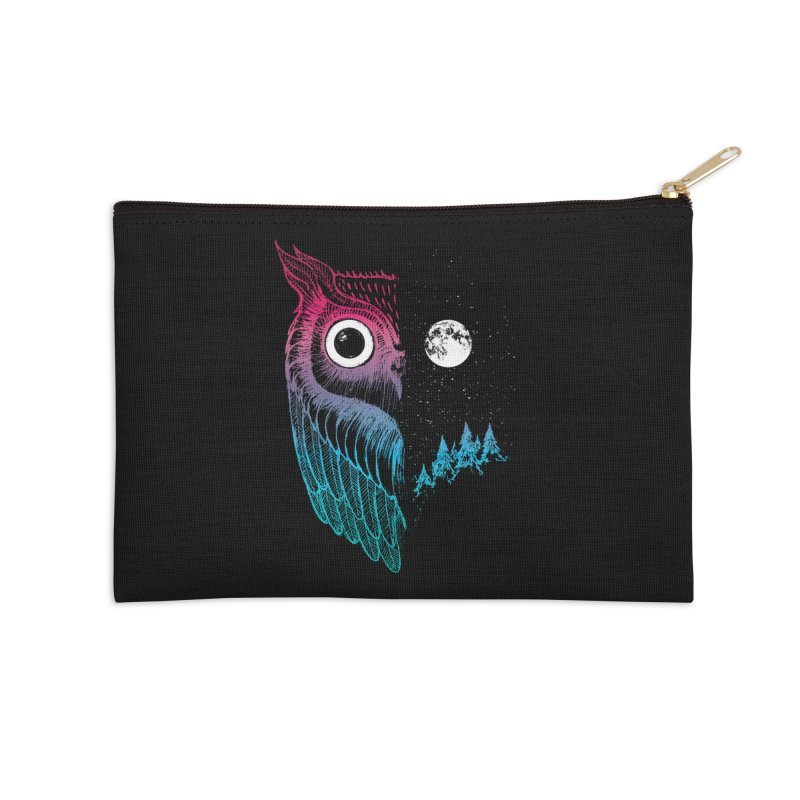 Night Owl Accessories Zip Pouch by DinoMike's Artist Shop