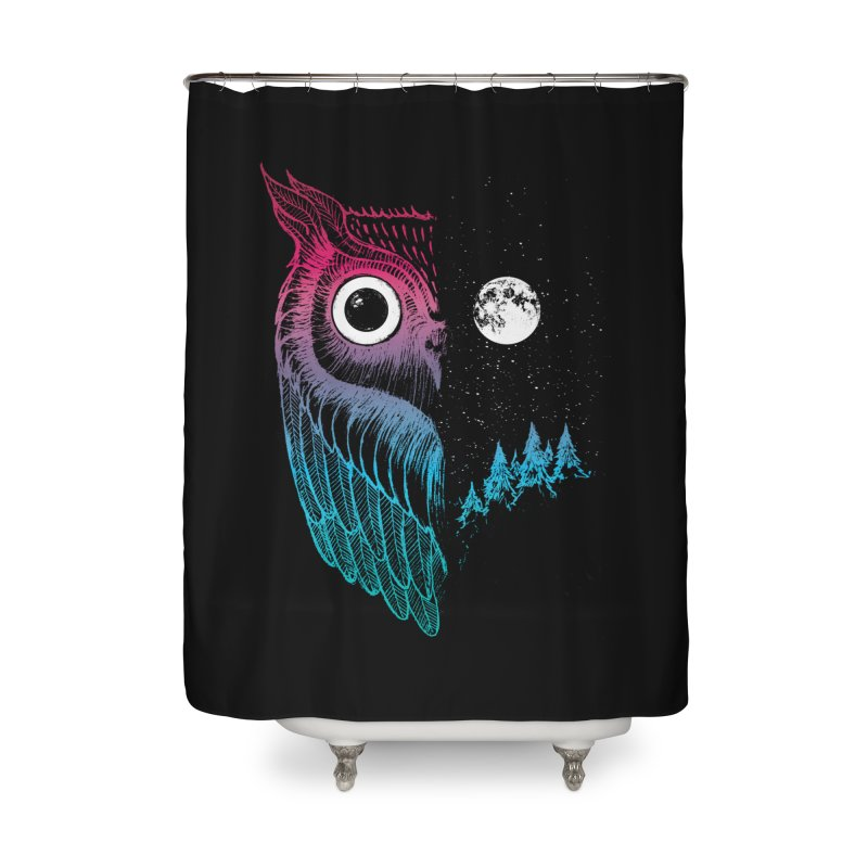 Night Owl Home Shower Curtain by DinoMike's Artist Shop