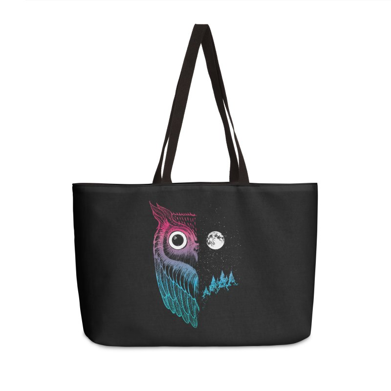 Night Owl Accessories Weekender Bag Bag by DinoMike's Artist Shop