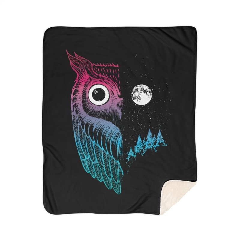 Night Owl Home Sherpa Blanket Blanket by DinoMike's Artist Shop