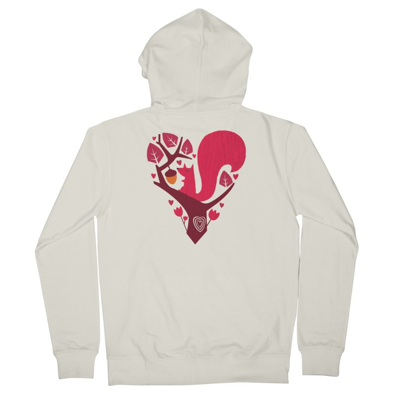 Nuts About You Women's Zip-Up Hoody by DinoMike's Artist Shop