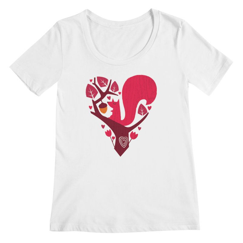 Nuts About You Women's Scoopneck by DinoMike's Artist Shop