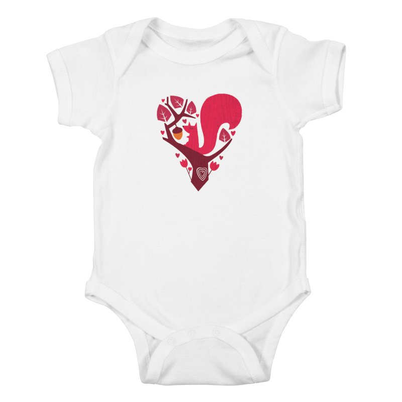 Nuts About You Kids Baby Bodysuit by DinoMike's Artist Shop