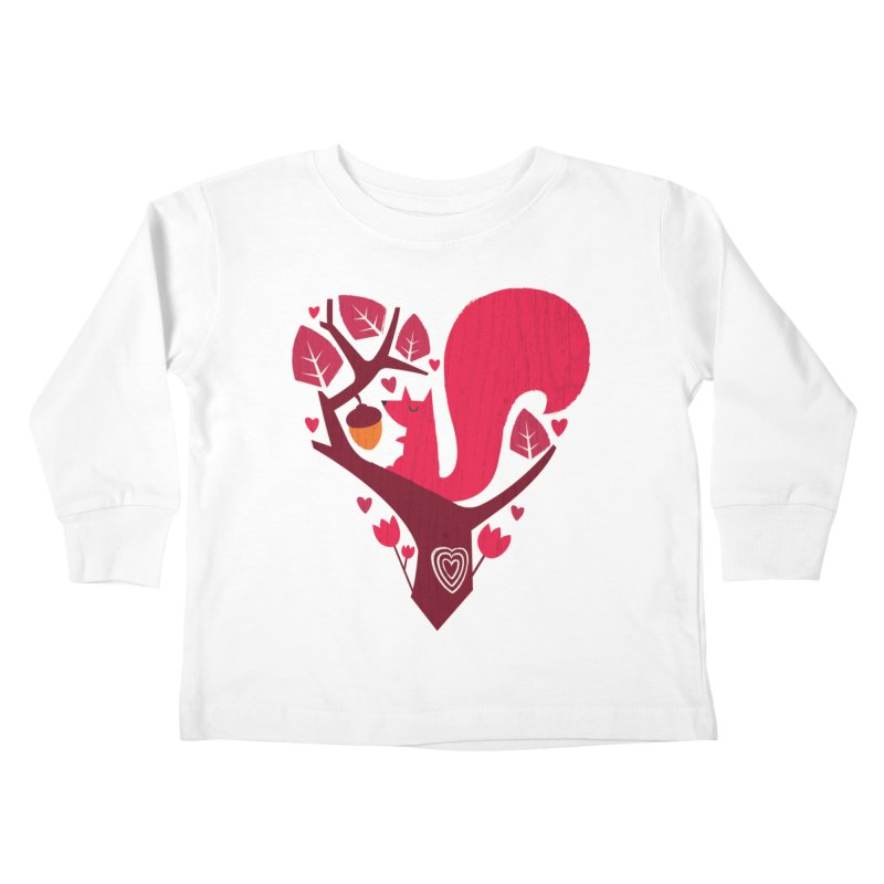 Nuts About You Kids Toddler Longsleeve T-Shirt by DinoMike's Artist Shop