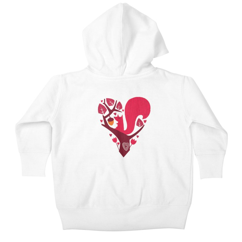 Nuts About You Kids Baby Zip-Up Hoody by DinoMike's Artist Shop