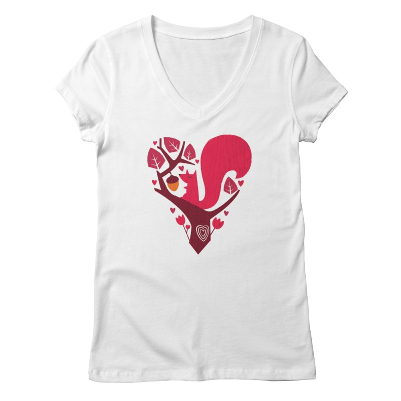 Nuts About You Women's V-Neck by DinoMike's Artist Shop