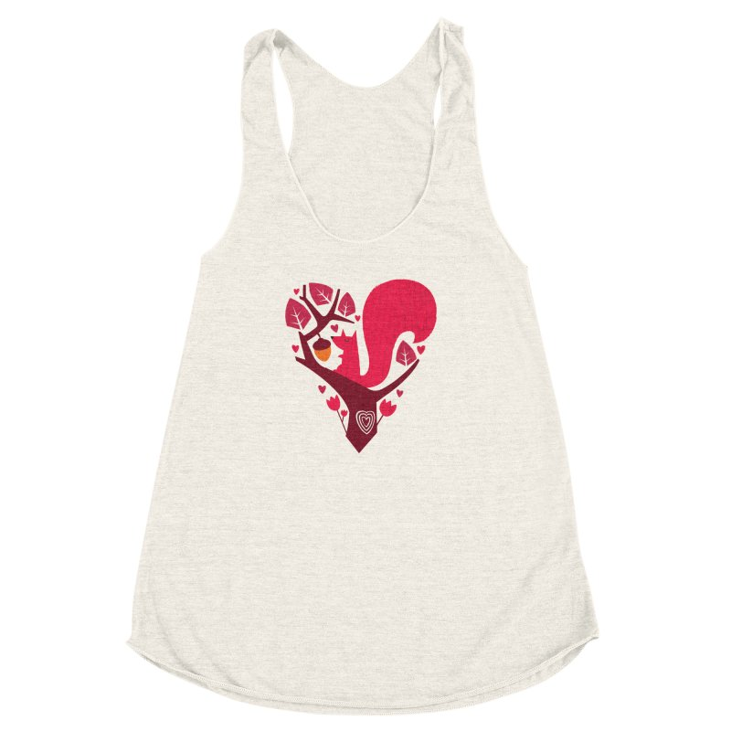 Nuts About You Women's Racerback Triblend Tank by DinoMike's Artist Shop