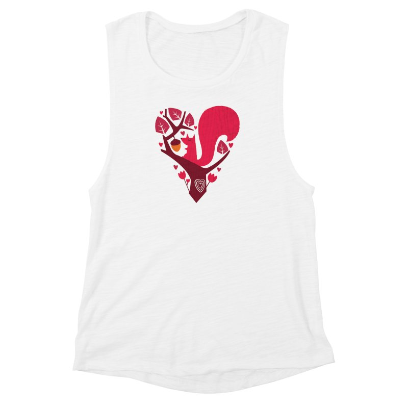 Nuts About You Women's Muscle Tank by DinoMike's Artist Shop