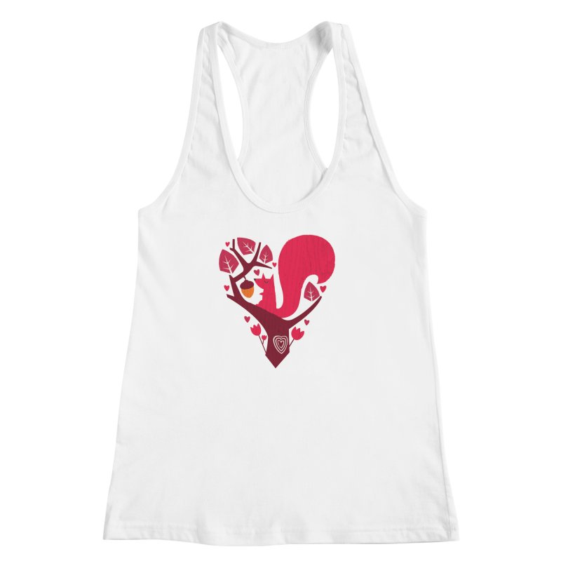 Nuts About You Women's Racerback Tank by DinoMike's Artist Shop