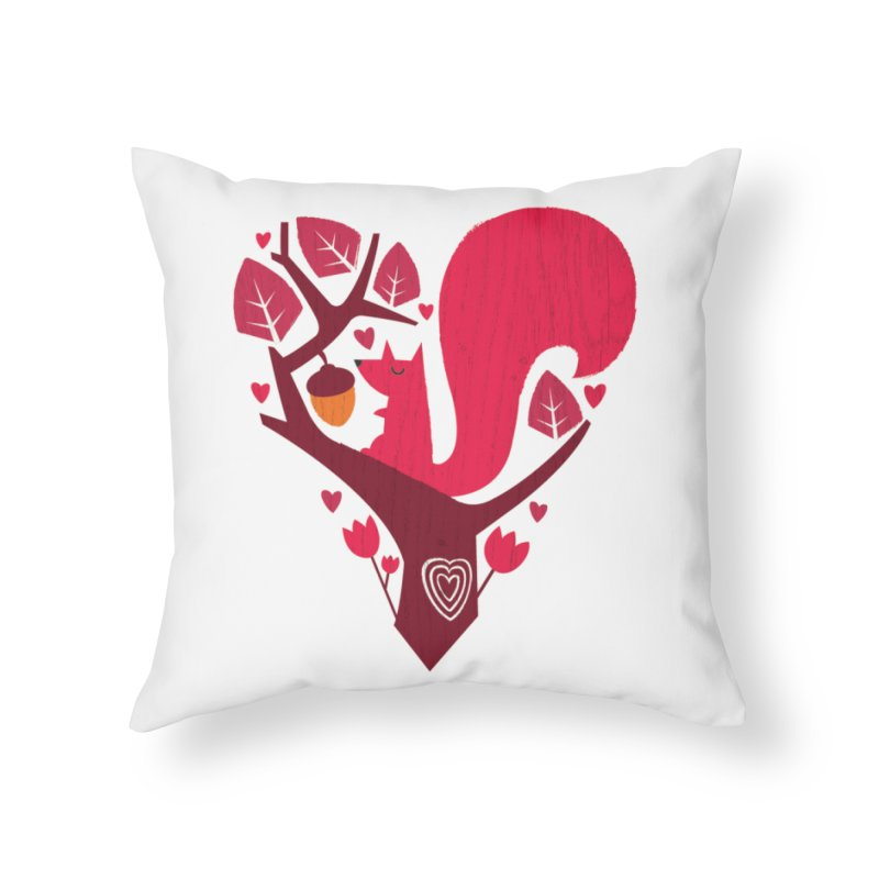 Nuts About You Home Throw Pillow by DinoMike's Artist Shop