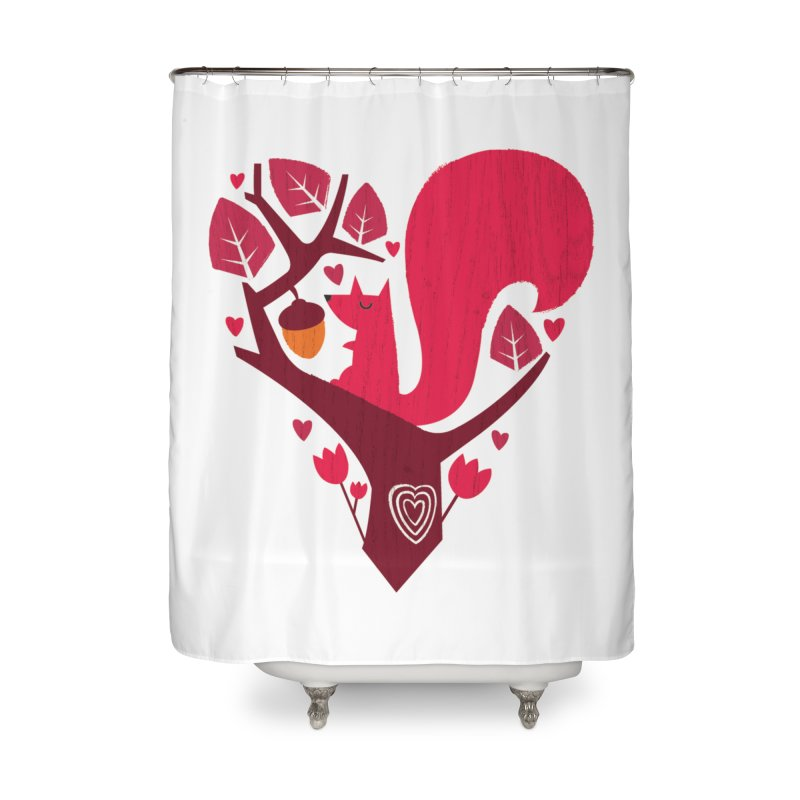 Nuts About You Home Shower Curtain by DinoMike's Artist Shop