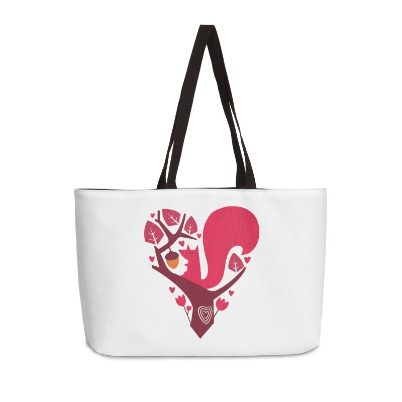 Nuts About You Accessories Weekender Bag Bag by DinoMike's Artist Shop