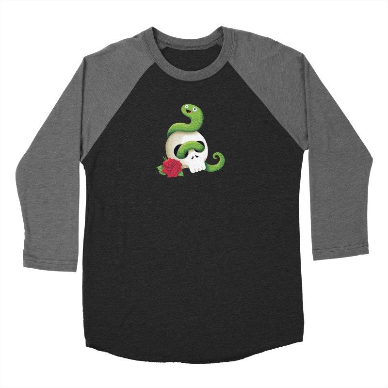 Ultra Badass Snake Men's Baseball Triblend Longsleeve T-Shirt by DinoMike's Artist Shop