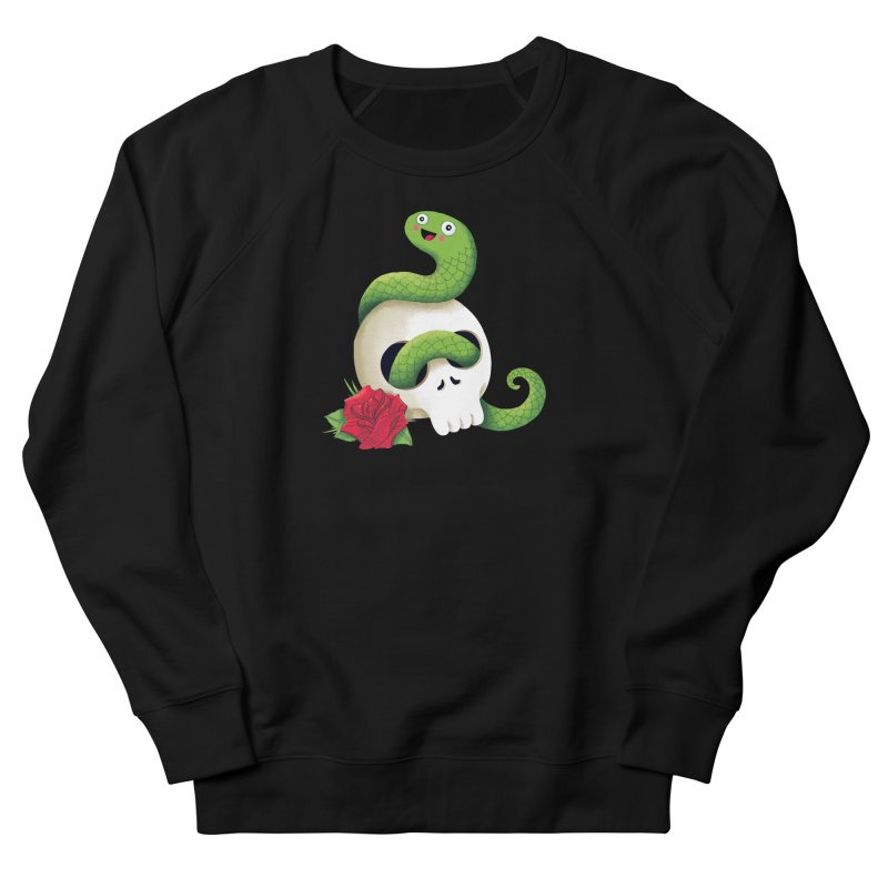 Ultra Badass Snake Men's French Terry Sweatshirt by DinoMike's Artist Shop