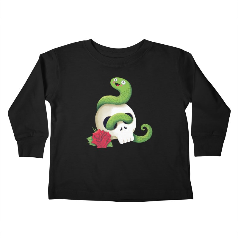 Ultra Badass Snake Kids Toddler Longsleeve T-Shirt by DinoMike's Artist Shop