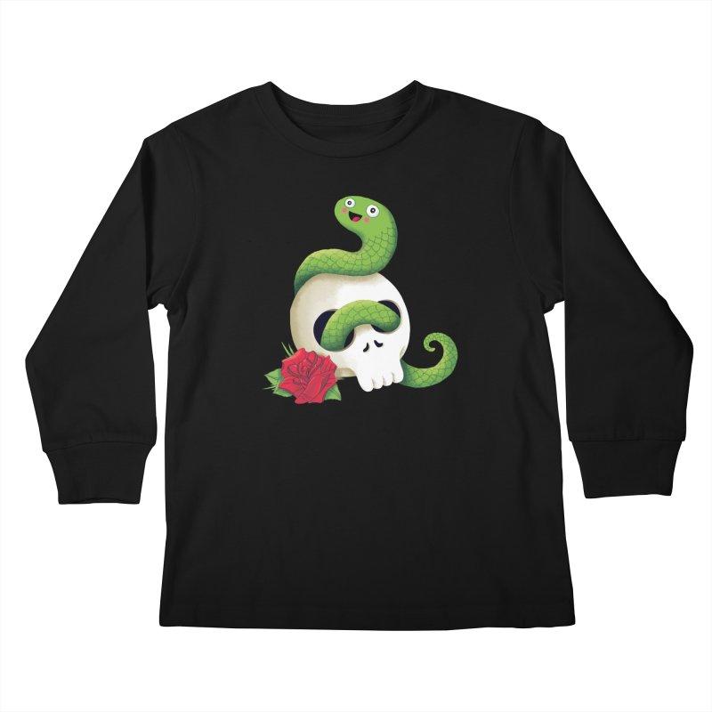 Ultra Badass Snake Kids Longsleeve T-Shirt by DinoMike's Artist Shop