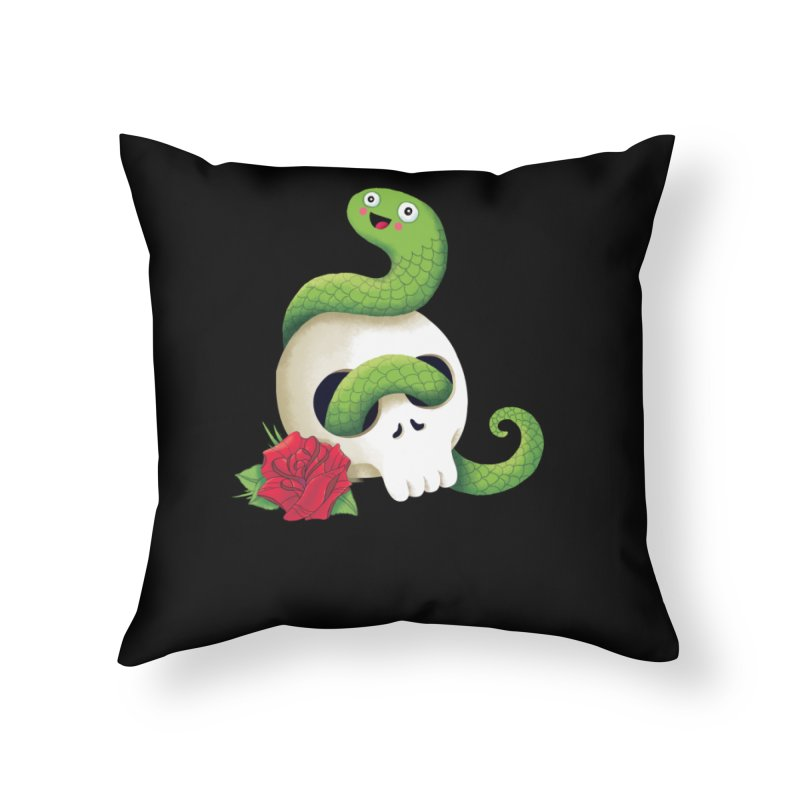 Ultra Badass Snake Home Throw Pillow by DinoMike's Artist Shop