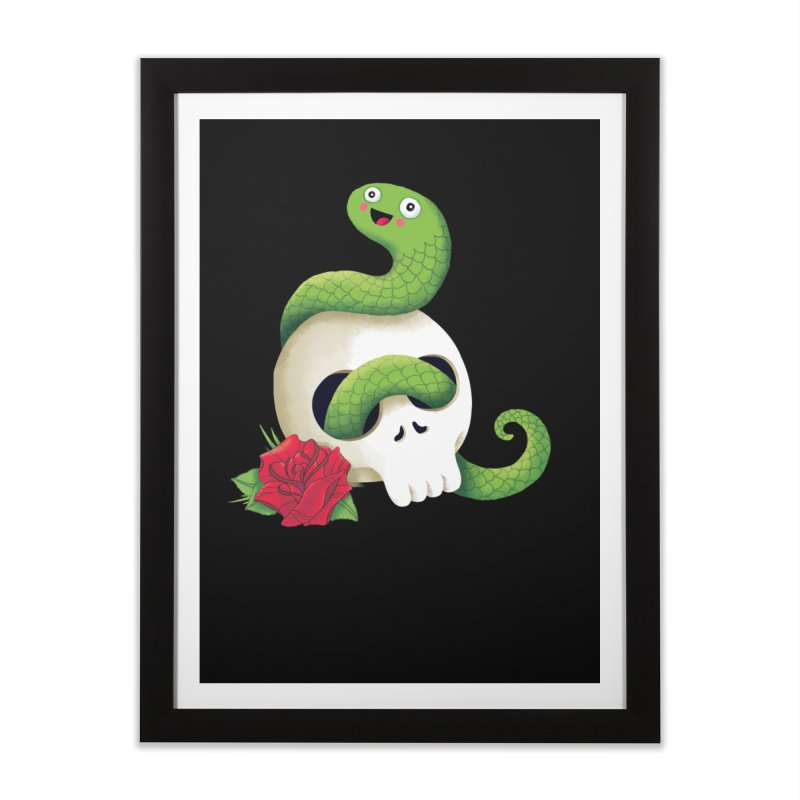 Ultra Badass Snake Home Framed Fine Art Print by DinoMike's Artist Shop
