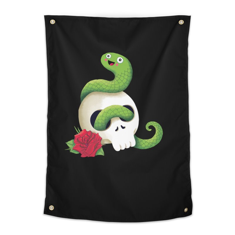 Ultra Badass Snake Home Tapestry by DinoMike's Artist Shop