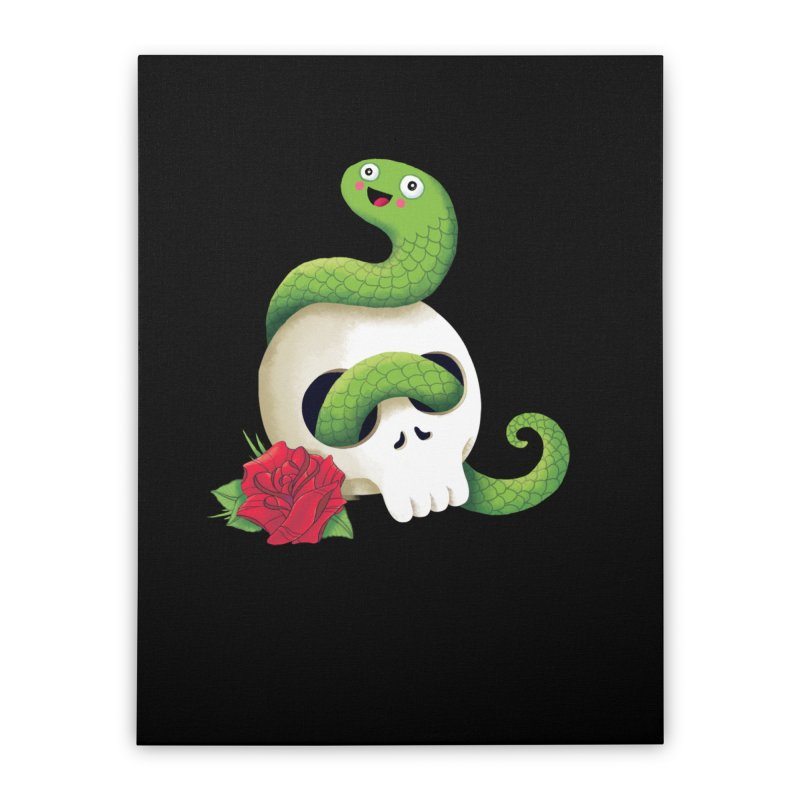 Ultra Badass Snake Home Stretched Canvas by DinoMike's Artist Shop