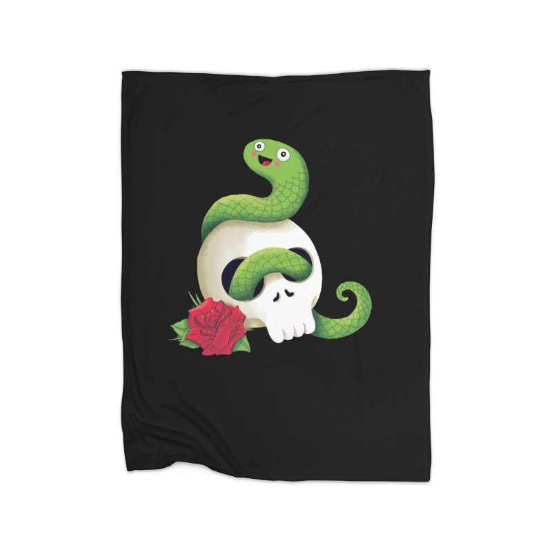 Ultra Badass Snake Home Fleece Blanket Blanket by DinoMike's Artist Shop