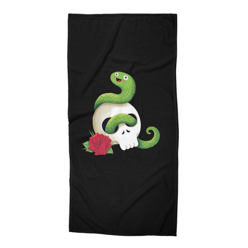 Ultra Badass Snake Accessories Beach Towel by DinoMike's Artist Shop