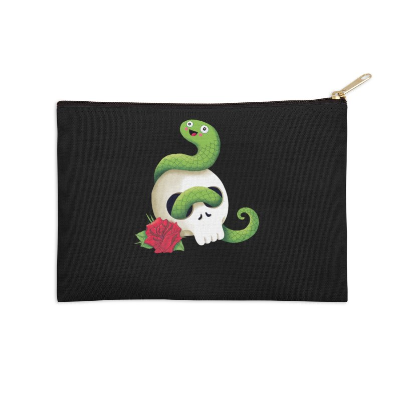 Ultra Badass Snake Accessories Zip Pouch by DinoMike's Artist Shop