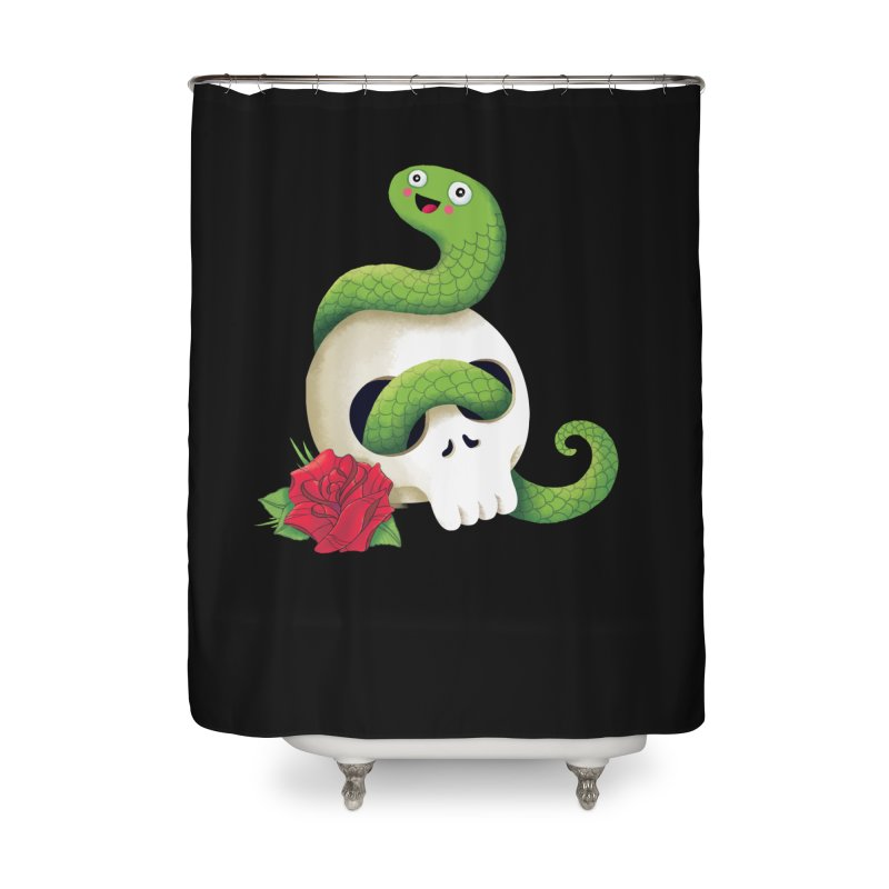 Ultra Badass Snake Home Shower Curtain by DinoMike's Artist Shop