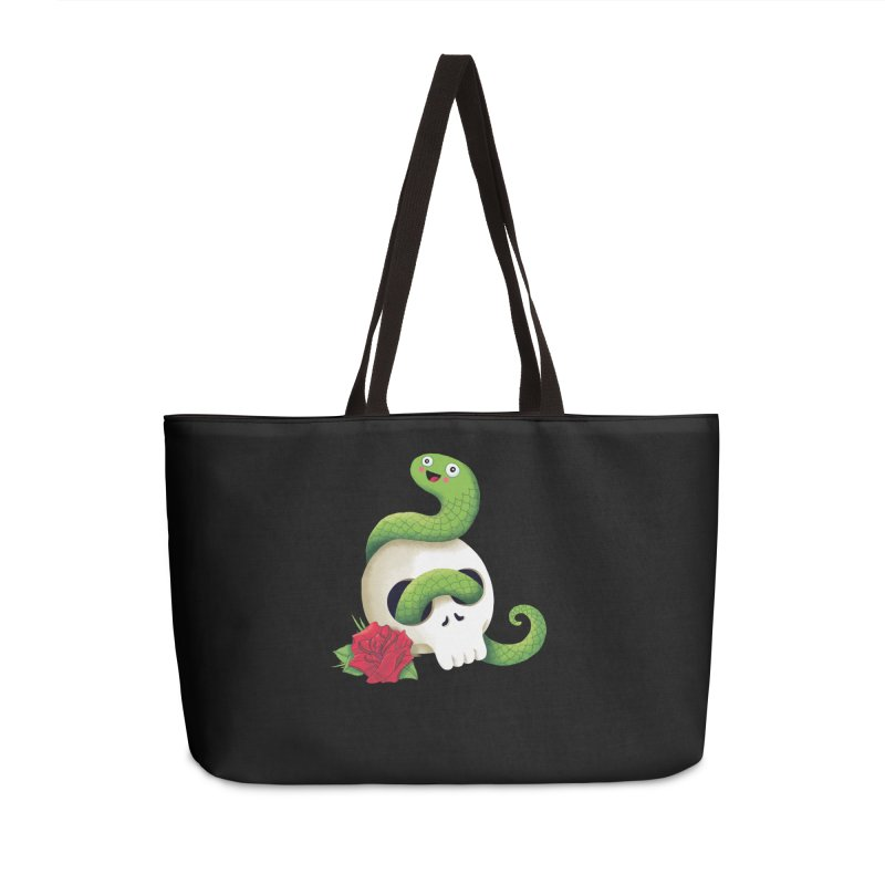Ultra Badass Snake Accessories Weekender Bag Bag by DinoMike's Artist Shop