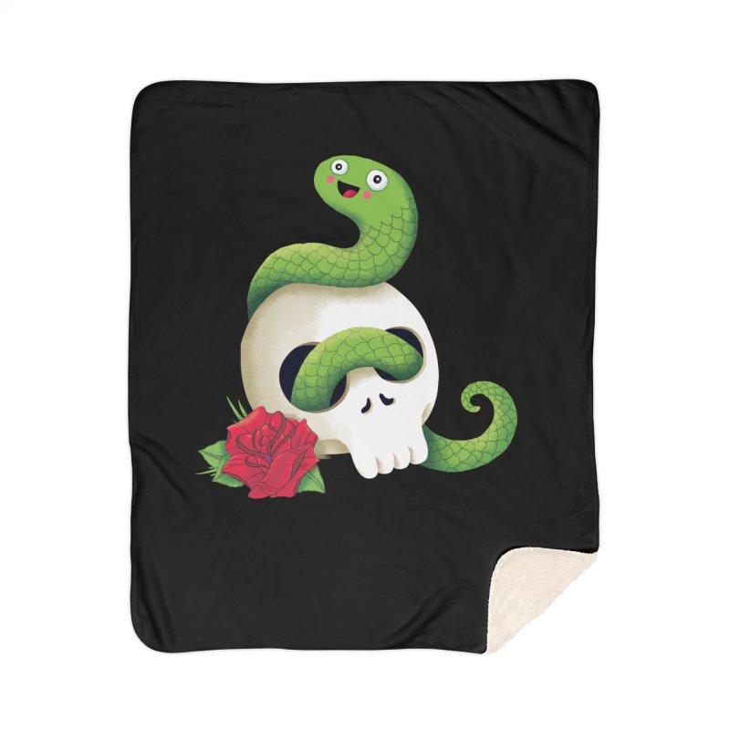 Ultra Badass Snake Home Sherpa Blanket Blanket by DinoMike's Artist Shop