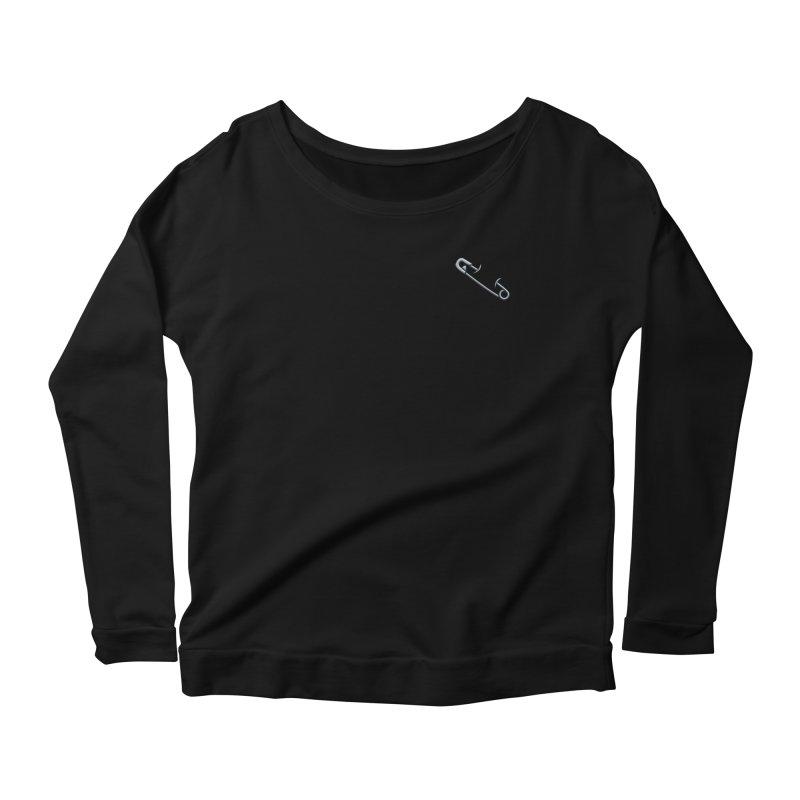 #SafetyPin Women's Scoop Neck Longsleeve T-Shirt by dinonuggets's Artist Shop