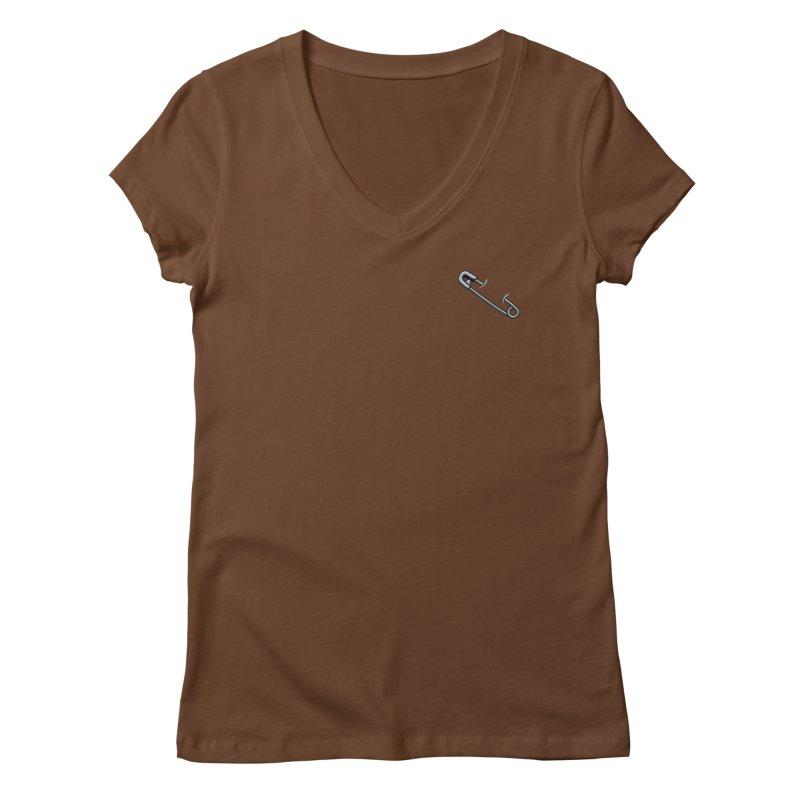 #SafetyPin Women's Regular V-Neck by dinonuggets's Artist Shop